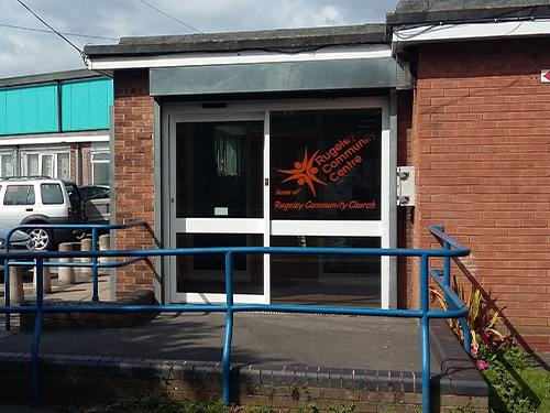 A Photo of the Entrance to Rugeley Community Centre