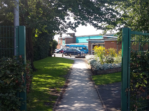 A Photo of the front entrance to Rugeley Community Centre